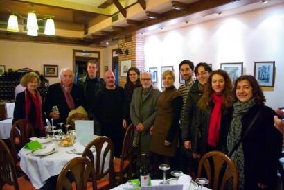 Cenando tras el concierto, con Ángeles López Artiga, Antón García Abril y Eduardo Rincón