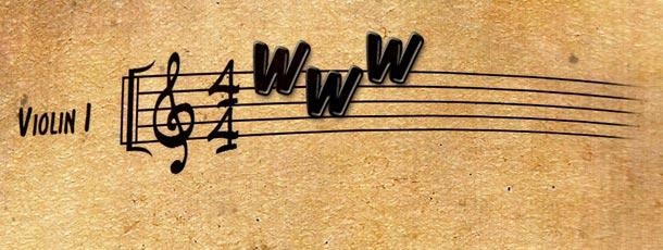 Partitura con www
