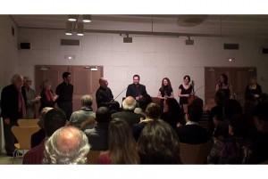 Ensemble Contrastes, 'Viento del pueblo', con varios de los compositores, 5/03/2010
